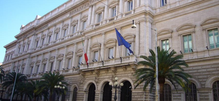 Palazzo Koch, sede della Banca d'Italia (foto di Lalupa - CC BY-SA 3.0)